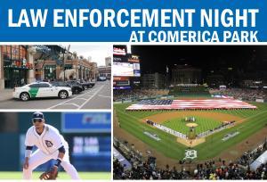 Law Enforcement Night Detroit Tigers 2016 Cropped