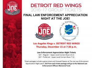 2016 Detroit Red Wings Law Enforcement Night web
