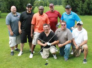 Two teams from Parnall at the 2016 Crisis Fund Golf Outing