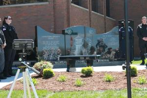 The Fallen Officers Memorial was dedicated May 7, 2017.