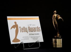 Telly award certificate issued to MCO Legal Director Jeff Foldie.