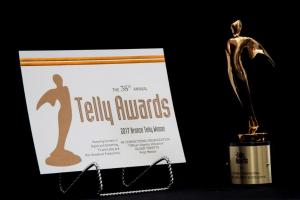 Telly award certificate issued to MCO Member Engagement Associate Olivia Toretta.