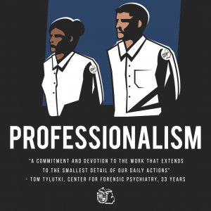 Here's a special version of the Move Forward Professionalism poster that celebrates FSAs at the Forensic Center.