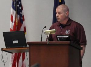 MCO Executive Board Member Brent Kowitz speaks before the Unmanned Aircraft Systems Task Force Oct. 11.